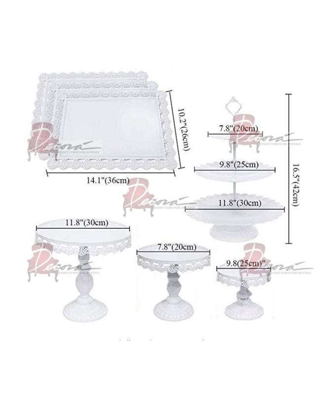 Dessert Stand Cake (White)