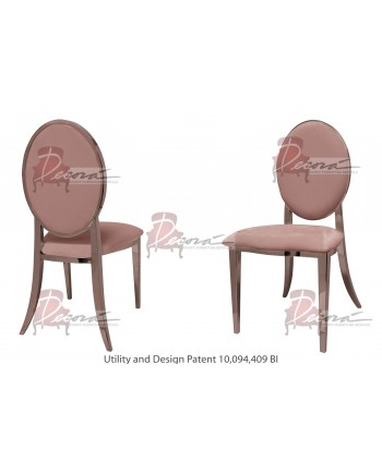 Tiffany Chair (Rose Gold-Rose Gold)