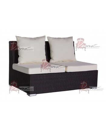 Rattan Love Seat (Mocha)