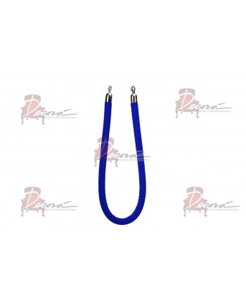 Stanchion Blue Rope (Silver)