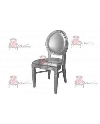 Chandelle Chair (Silver Frame Silver Cushion)
