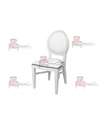 Chandelle Chair (White Frame White Cushion)