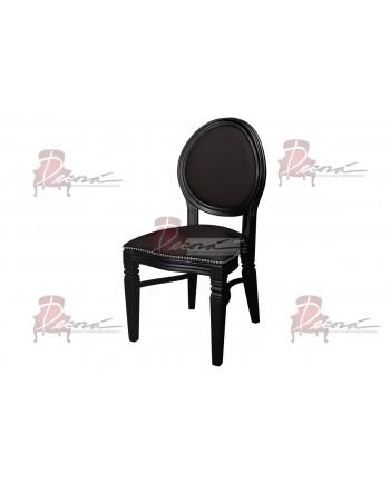 Chandelle Chair (Black Frame-Black Cushion)