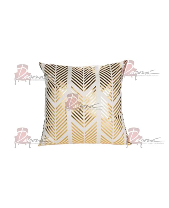 Reflection Gold Throw Pillow Arrows