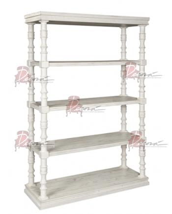 Boho White Bookshelf