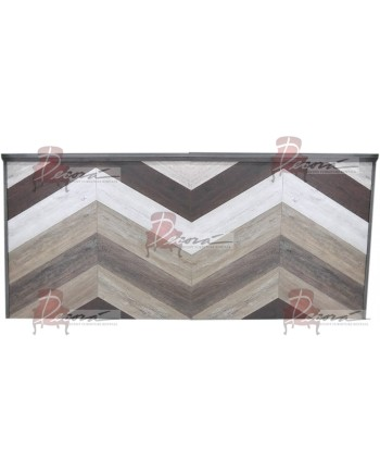 Vintage Herringbone Wood Bar