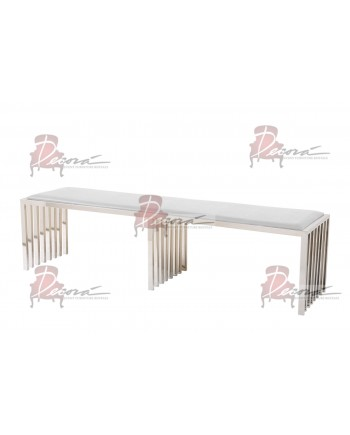 Reflection Bench Art Deco (Silver)