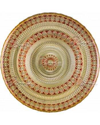 Agra Charger Plate (Red and Gold)
