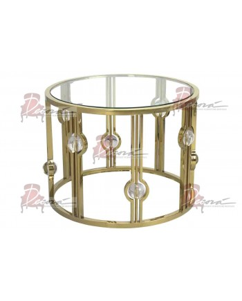 Reflection Coffee Table Glam (Round) (Gold)