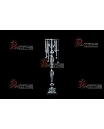 "Crystal-Metal Pedestal 36"" (acrylic)"