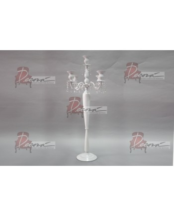 "Four Arms Candelabra (White) (42"")"