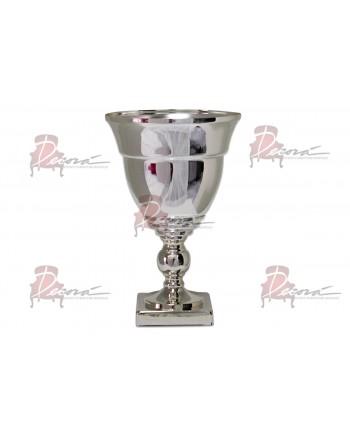"""Flower Pedestal 02 (12""""H) (Silver)"""