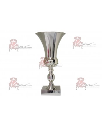 """Flower Pedestal 015 (16""""H) (Silver)"""