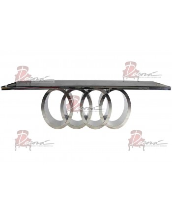 """Reflection Dining Table Infinity (Silver) 96"""" x 30"""""""