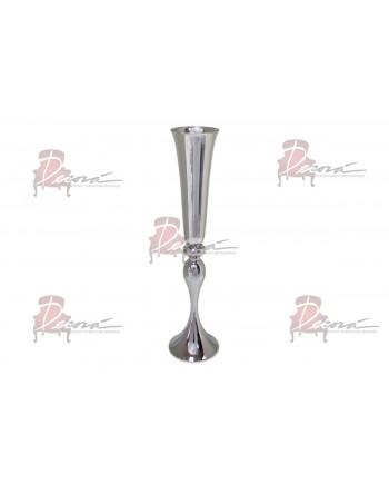 """Flower Pedestal 010 (11.5""""H) (Silver)"""