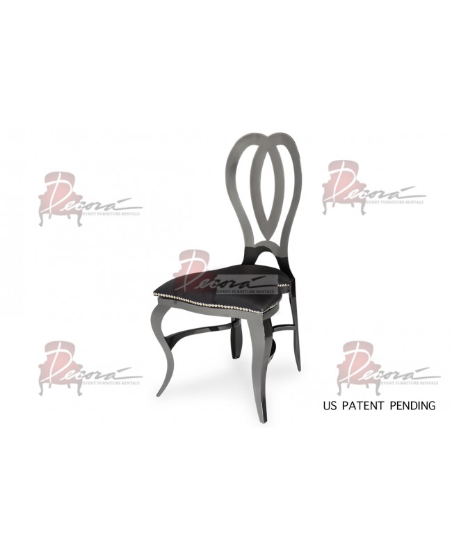 Halexandria Chair (Gun Metal-Black)