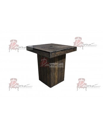 Rustic Highboy Table (Square)