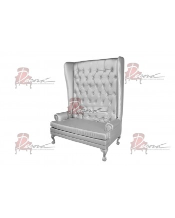 Imperial Love Seat (Silver)