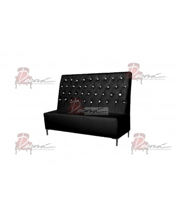 Glitz Love Seat (Black)