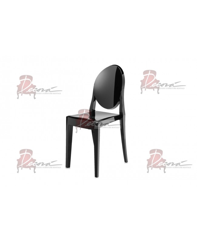 Ghost Chair Black (Armless)