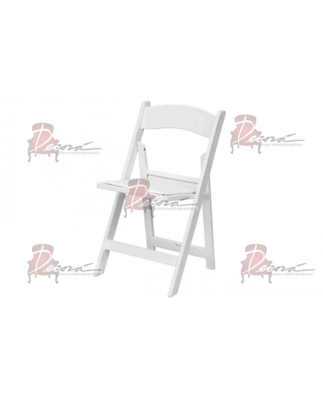 Resin Folding Chair (White)