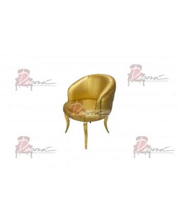 Glitz Lounge Armchair (Gold)(Gold Legs)