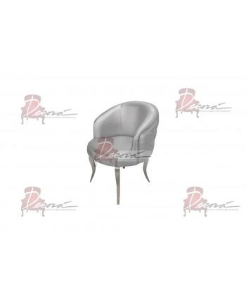Glitz Lounge ArmChair (Silver) (silver Legs)