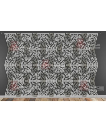Laser Cut Wall (Wave Design) Silver