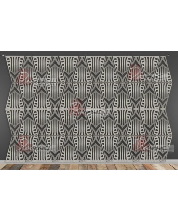Laser Cut Wall (Art Deco Design) Silver