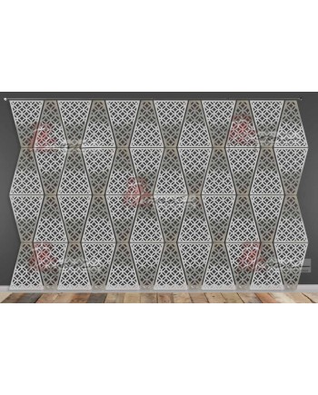 Laser Cut Wall (Circle Design) Silver