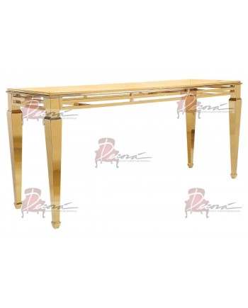 "Reflection HighBoy Table (Gold) 30"" x 96"""