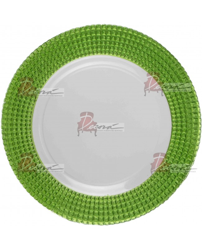 Emerald Charger Plate (Clear and Green)