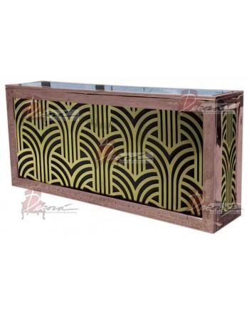 Reflection Bar 8' (Art Deco-Gold) (Rose Gold)