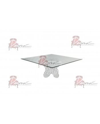 """Crystal Dining Table ( 48""""x 48"""")"""