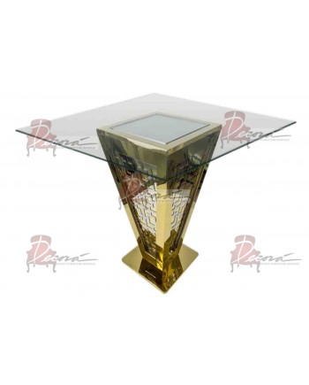 "Reflection Highboy Table Pyramid (Gold) 72"" x 72"""