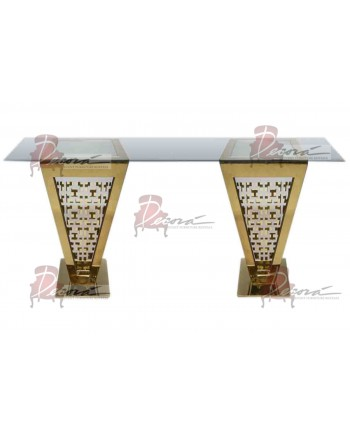 "Reflection Highboy Table Pyramid (Gold) 24"" x 96"""