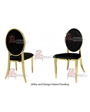 Tiffany Chair (Gold-Black)