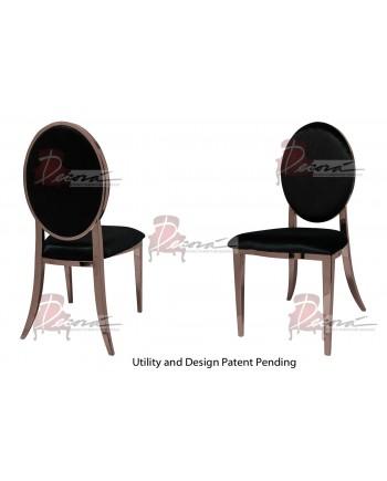 Tiffany Chair (Rose Gold-Black)