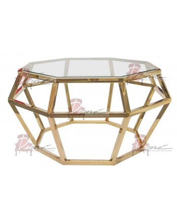 """Reflection Coffee Table Gem (Gold) 36""""D x 18""""H"""