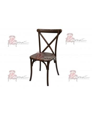 CrossBack Chair (Dark Mahogany)