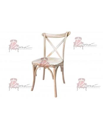 CrossBack Chair (White Wash)