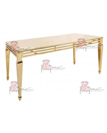 "Reflection HighBoy Table (Gold) 48"" x 96"""