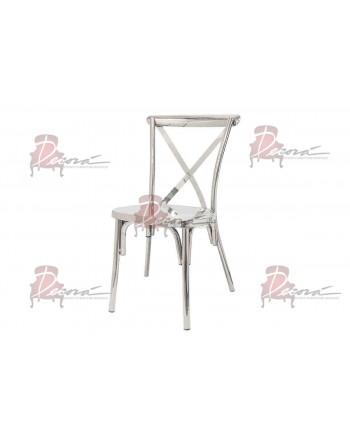 Cross Back Chair (Silver)