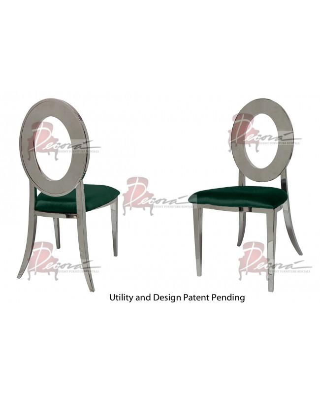Oz Chair (Silver-Emerald)