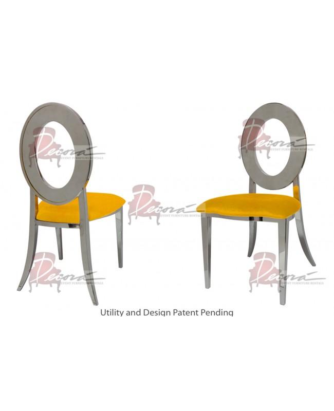 Oz Chair (Silver-Yellow)