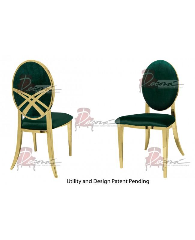 Lasso Chair (Gold-Emerald)