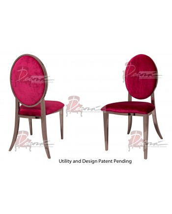 Tiffany Chair (Rose Gold-Red)