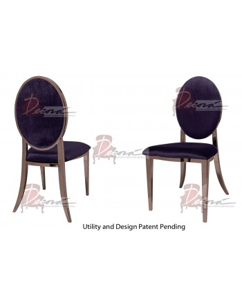 Tiffany Chair (Rose Gold-Eggplant)
