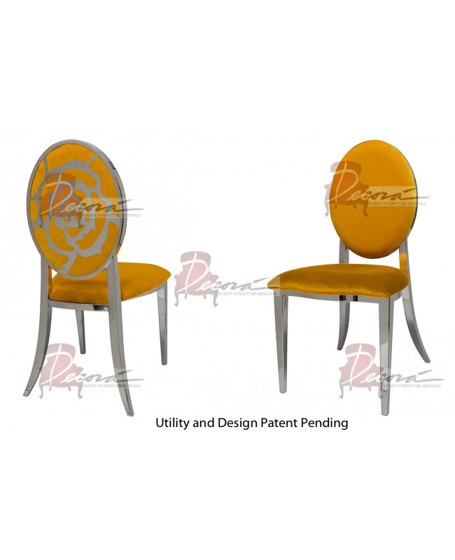 Rose Chair (Silver-Yellow)
