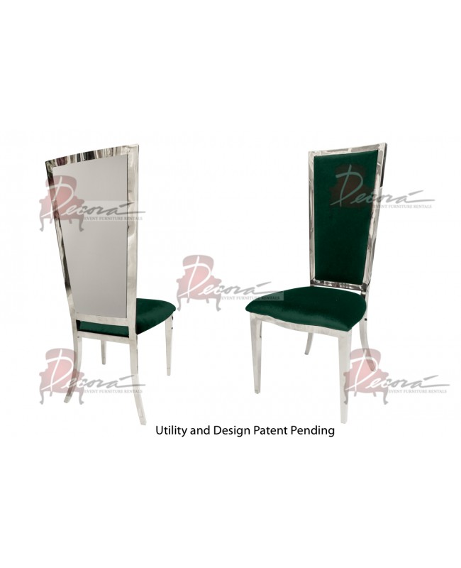 Reflection Chair Rectangular (Silver-Emerald)